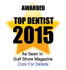 Award for Top Dentist 2015